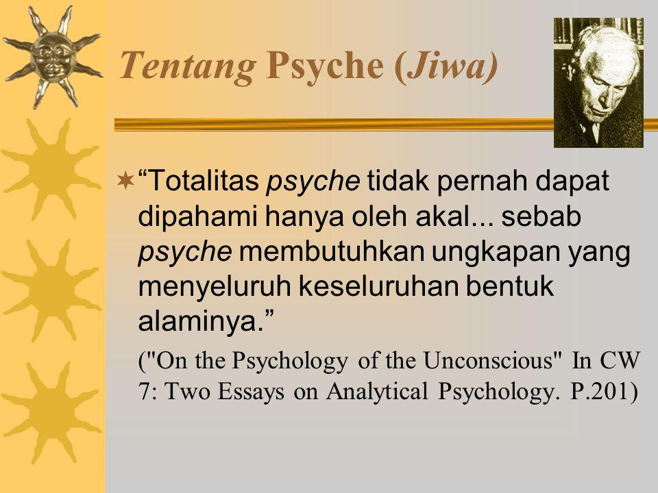 Tentang Psyche  Psyche adalah sistem yang mengatur dirinya sendiri, menjaga keseimbangannya seperti halnya tubuh.