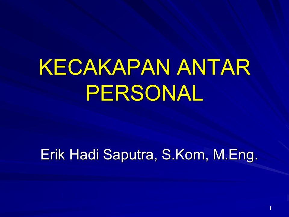 1 KECAKAPAN ANTAR PERSONAL Erik Hadi Saputra, S.Kom, M.Eng.