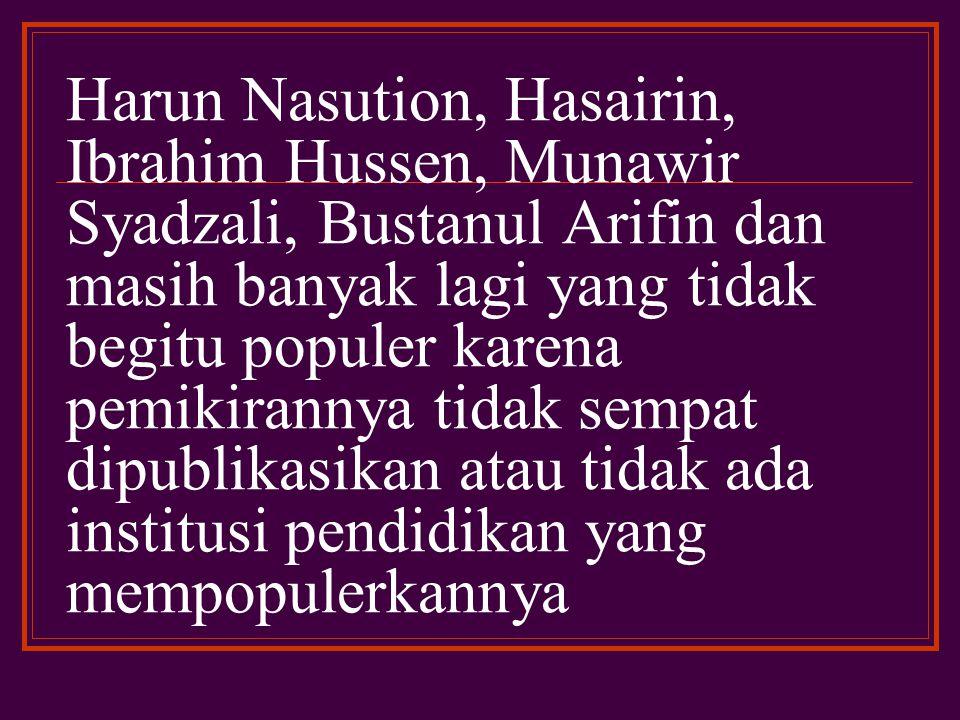 Gagasan Hasbi ash-Shiddiqy tersebut mendapat sambutan positif dari berbagai pihak para pembaru hukum Islam di Indonesia, baik secara perorangan maupun secara organisasi.