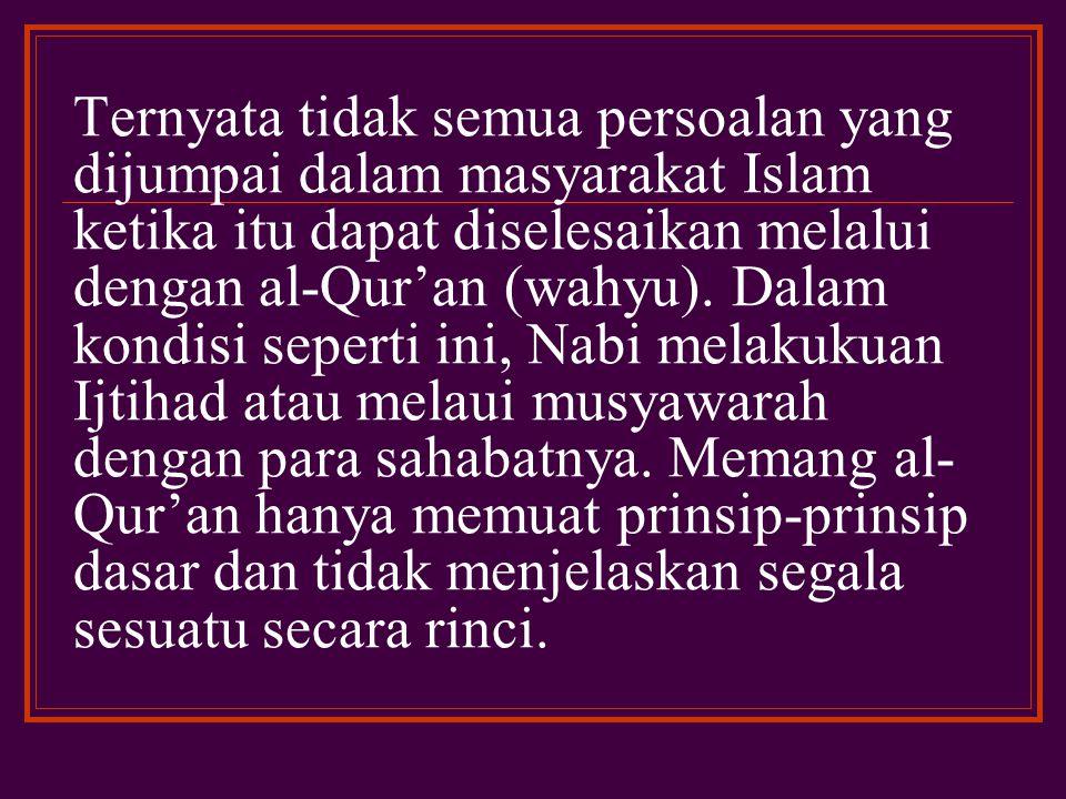 PENDAHULUAN A.LATAR BELAKANG MASALAH AL-QUR'AN DITURUNKAN ALLAH KEPADA NABI MUHAMMAD SAW.