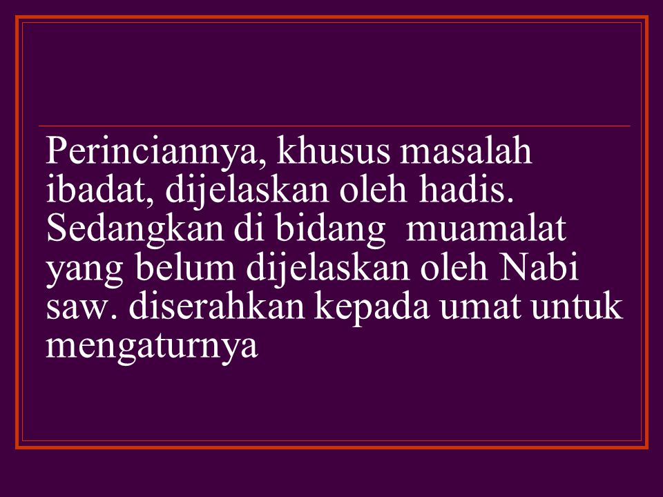 Dalam rangka penyempurnaan dan pengembangan kompilasi hukum Islam, metode istih}sa>n sebagai salah satu metode ijtihad mempunyai prospek ke arah tersebut.
