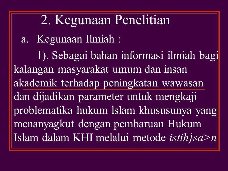 F.Tujuan Penelitian 1.