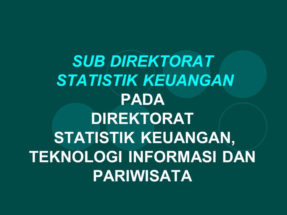 SUB DIREKTORAT STATISTIK KEUANGAN PADA DIREKTORAT STATISTIK KEUANGAN, TEKNOLOGI INFORMASI DAN PARIWISATA