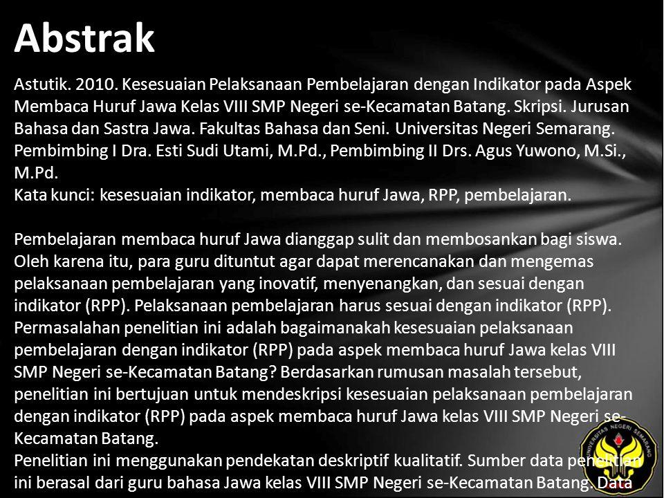 Abstrak Astutik. 2010.