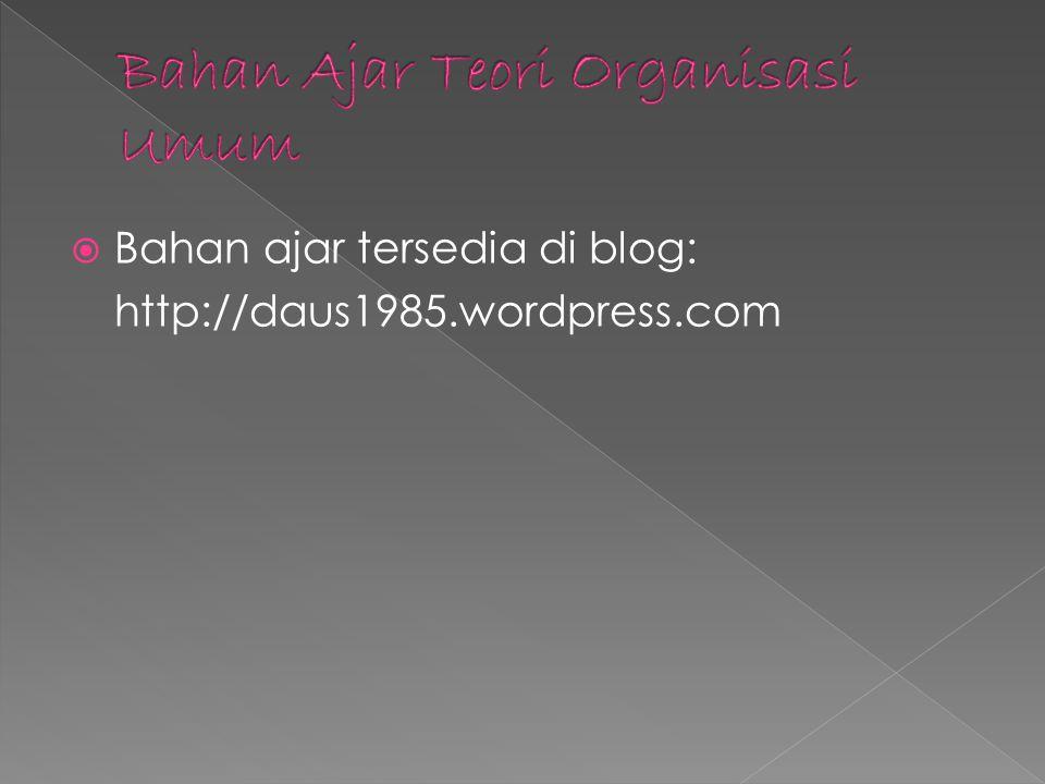 Bahan ajar tersedia di blog: http://daus1985.wordpress.com
