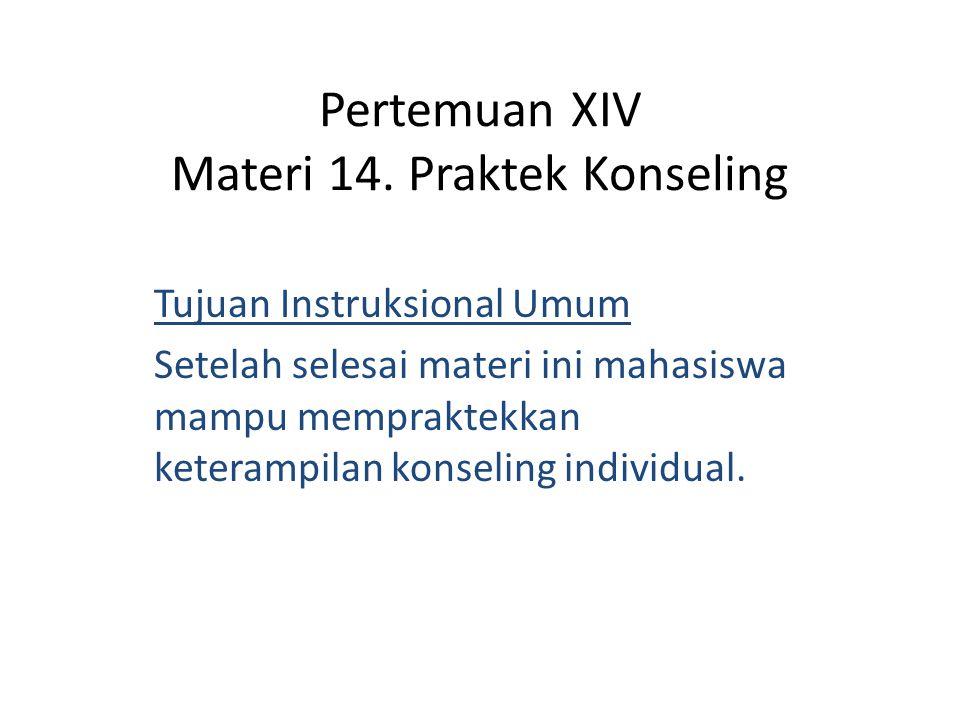 Pertemuan XIV Materi 14.