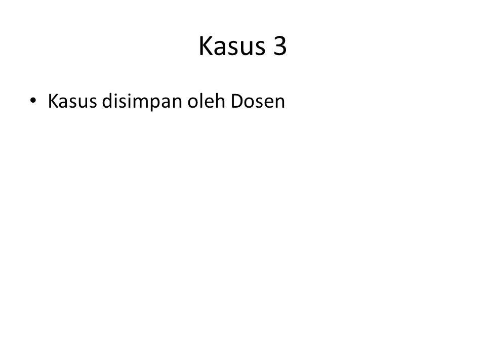 Kasus disimpan oleh Dosen