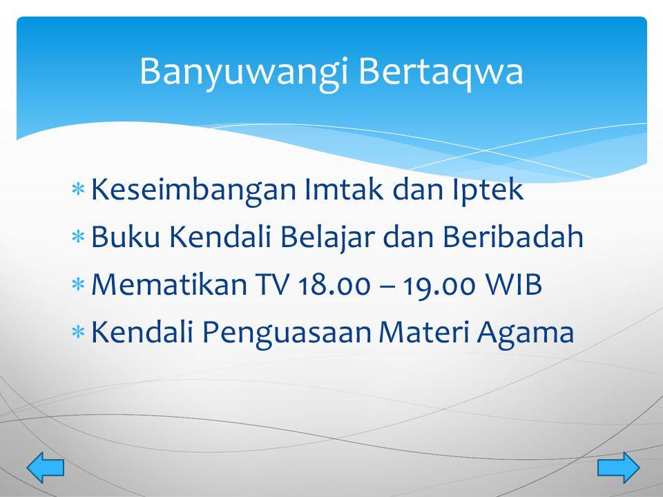  Berdasarkan Peraturan Bupati (PERBUP) Nomor ; 34 Tahun 2013 yang ditindak lanjuti dengan surat keputusan (SK) Kepala Dinas Pendidikan Kabupaten Banyuwangi Nomor ; 188/3424/429.101/2013, program Banyuwangi Mengajar mulai dilaksanakan pada Bulan Januari 2014.