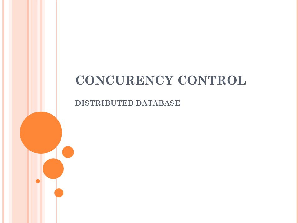 CONCURENCY CONTROL DISTRIBUTED DATABASE