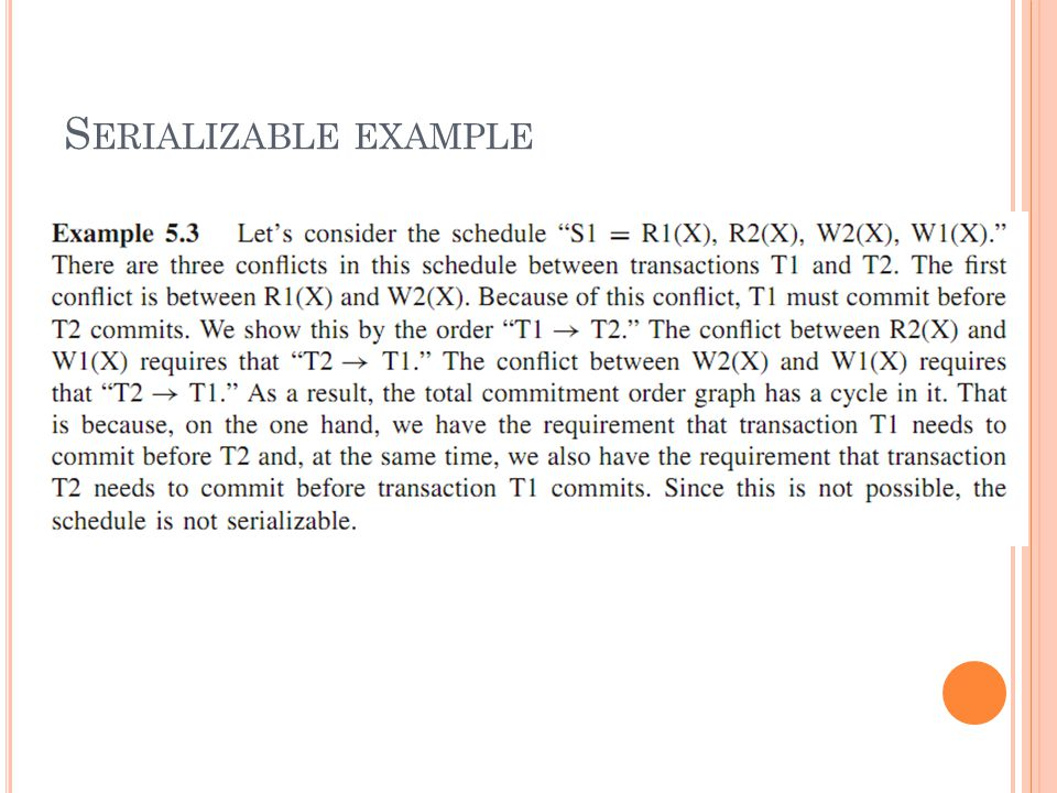 S ERIALIZABLE EXAMPLE