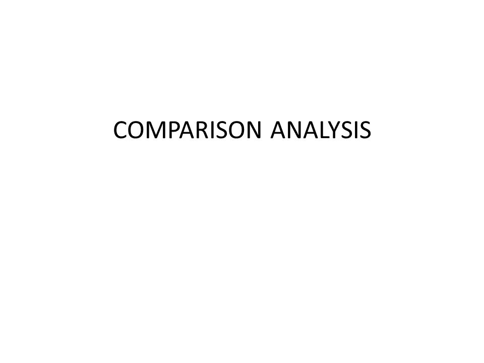 COMPARISON ANALYSIS