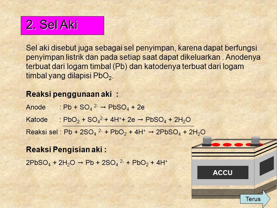 1. Sel Kering (Sel Leclanche)  Dikenal sebagai batu baterai  Terdiri dari katode yang berasal dari karbon(grafit) dan anode logam zink  Elektrolit