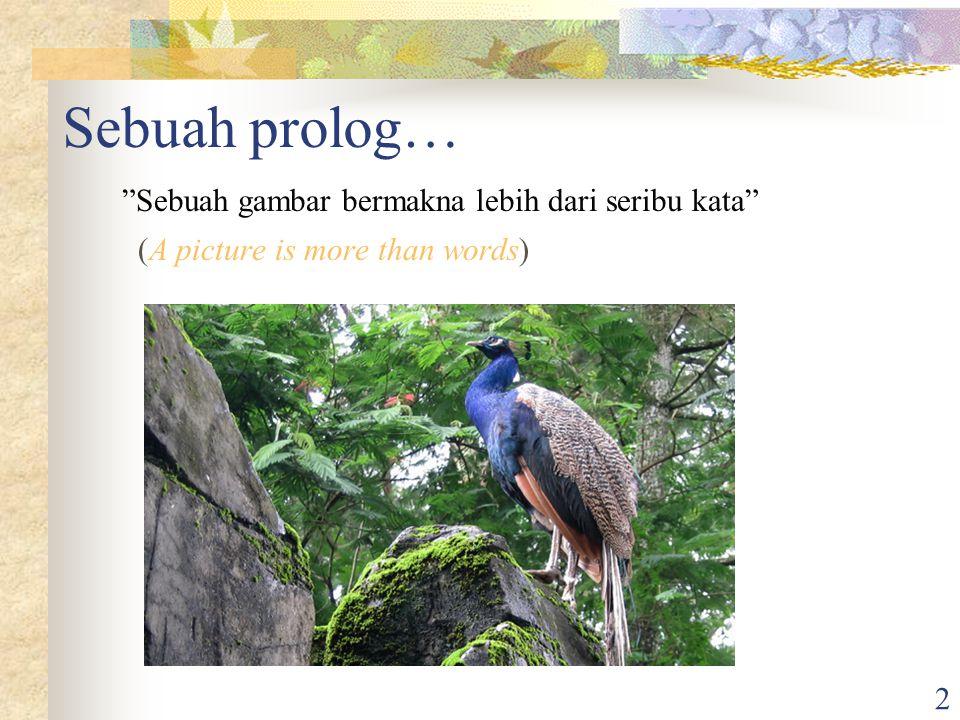 2 Sebuah prolog… Sebuah gambar bermakna lebih dari seribu kata (A picture is more than words)