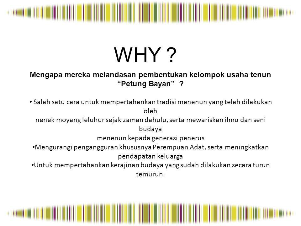 WHERE ? Darimana asal Tenun Bayan? Dari Kecamatan Bayan, Kabupaten Lombok Utara, Provinsi NTB