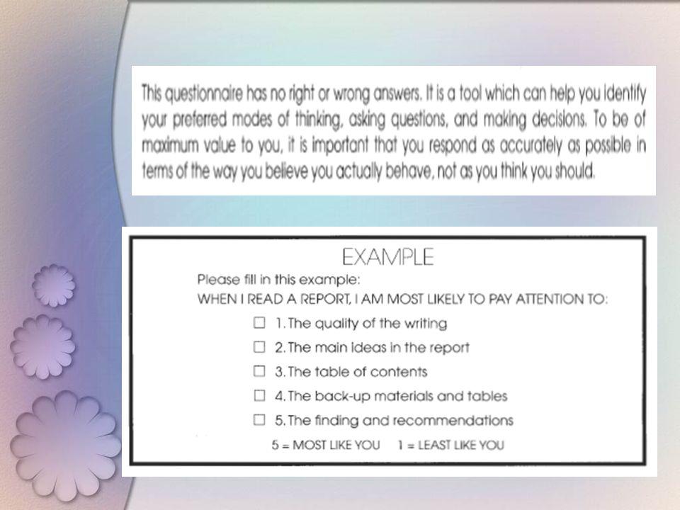Assesing your thingking profile TUGAS Kelas : Anda termasuk yg mana ?