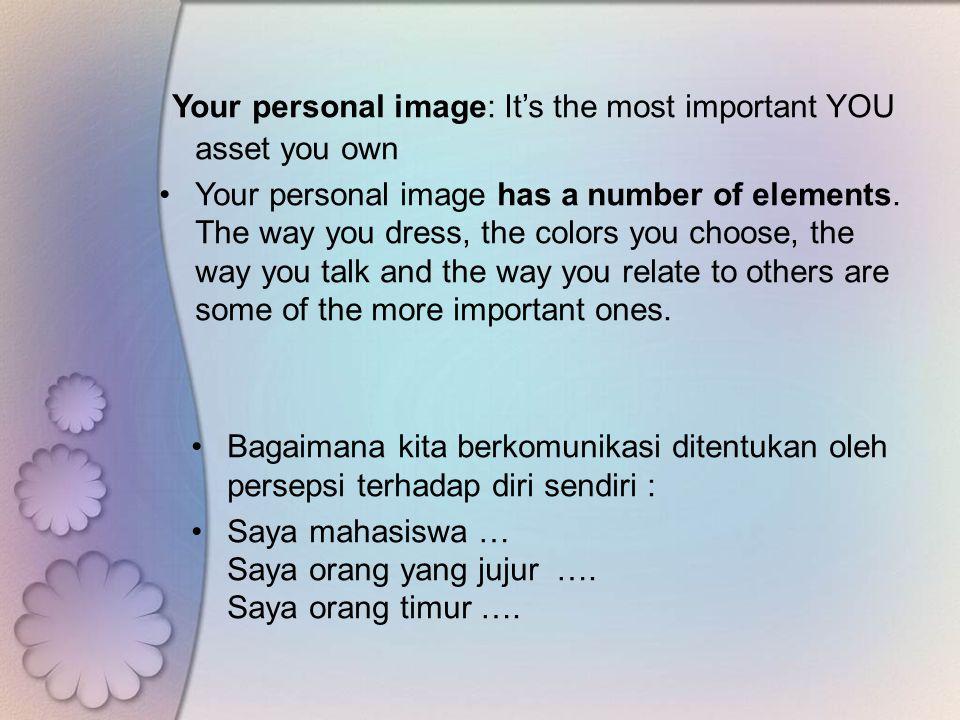 Mengapa harus mengenal diri sendiri ? berkomunikasi merefleksikan citra diri (personal image) Kesuksesan dalam berkomunikasi ditentukan oleh kemampuan