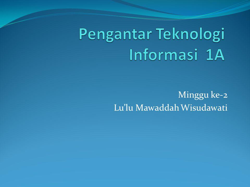 Minggu ke-2 Lu'lu Mawaddah Wisudawati
