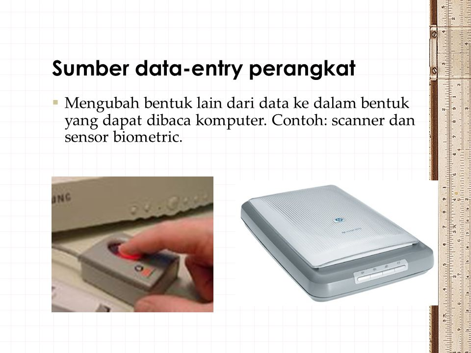  perangkat yang digunakan sebagai perangkat penyimpan sekunder  Floppy disk  Optical Disks: CD & DVD  Flashdisk Secondary memory atau memori sekunder