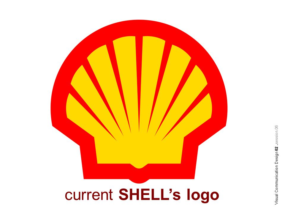 Visual Communication Design 02.session.06 current SHELL's logo