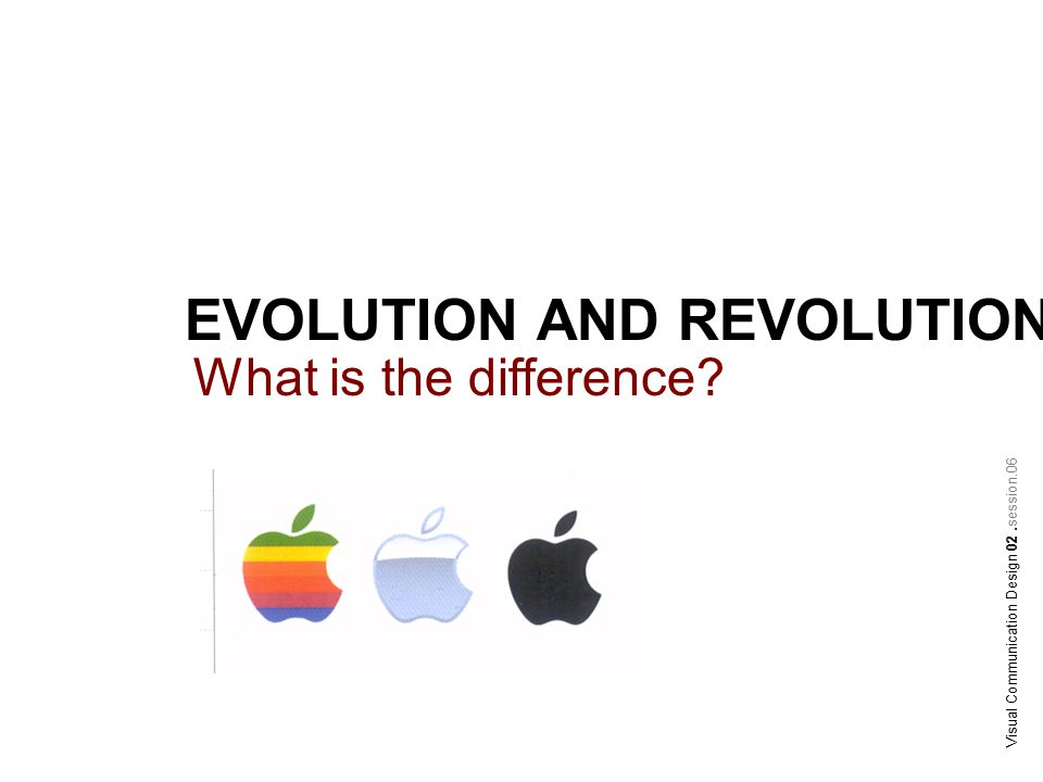 EVOLUTION AND REVOLUTION What is the difference Visual Communication Design 02.session.06