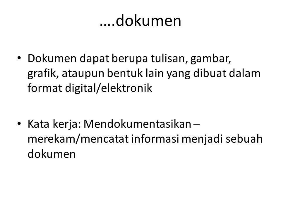 Dari online discussion, dokumen….