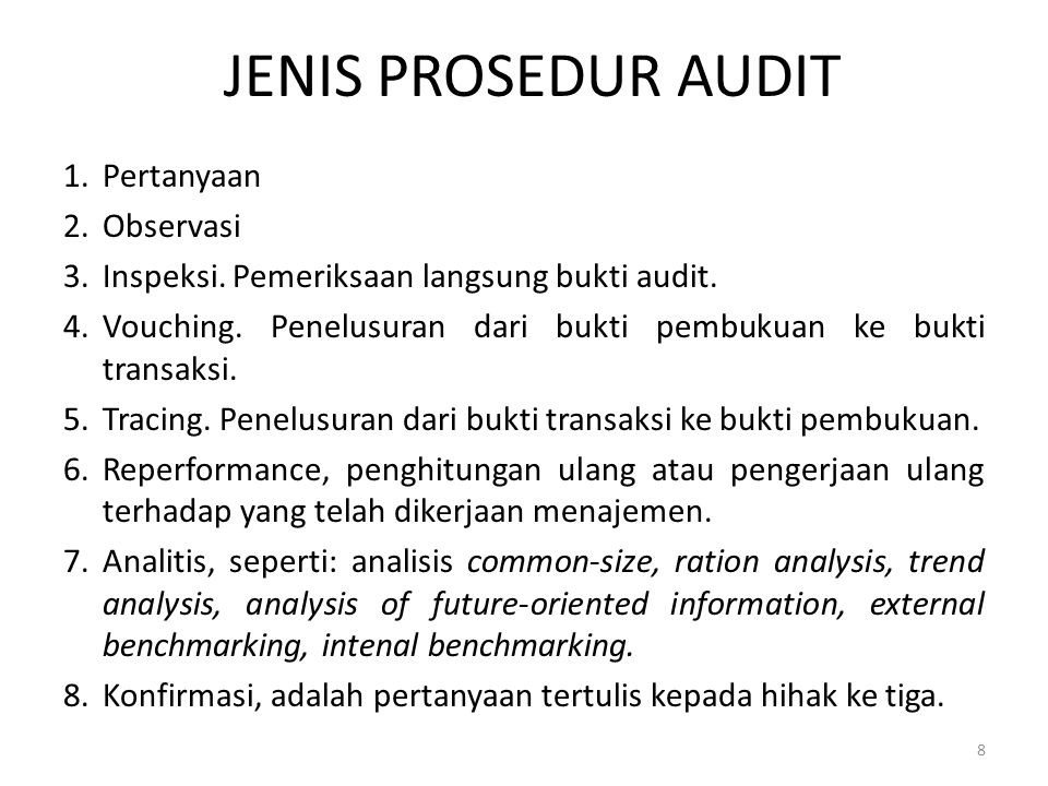 COMPUTER ASSISTED AUDIT TECHNIQUES CAATs mencakup: Generalized audit software (GAS).