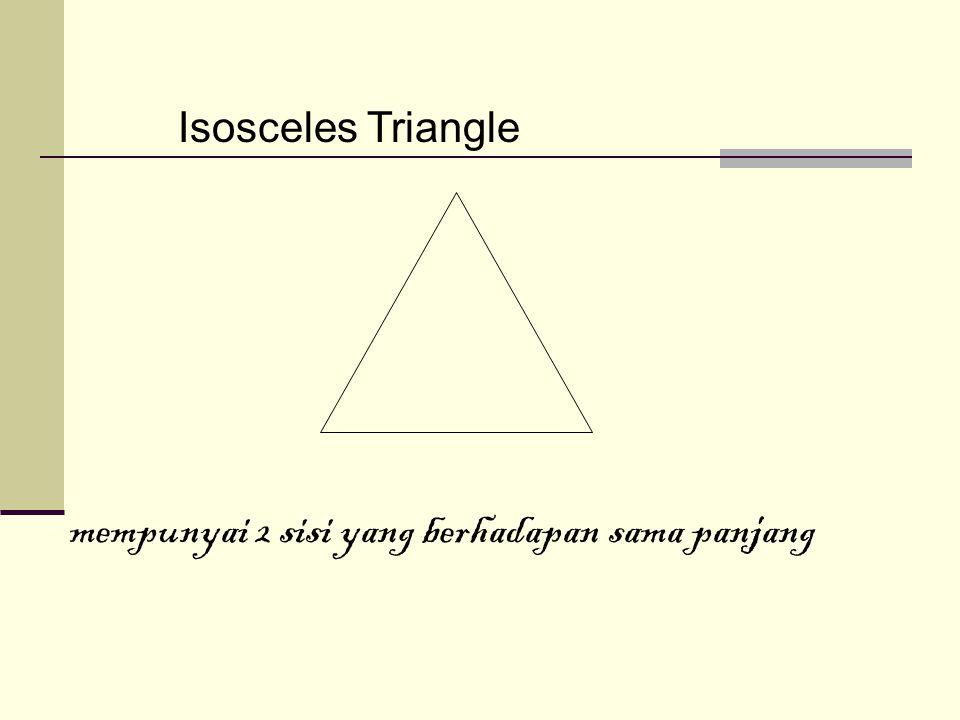 Right Triangle salah satu sudutnya adalah sudut siku-siku yaitu 90 ⁰.