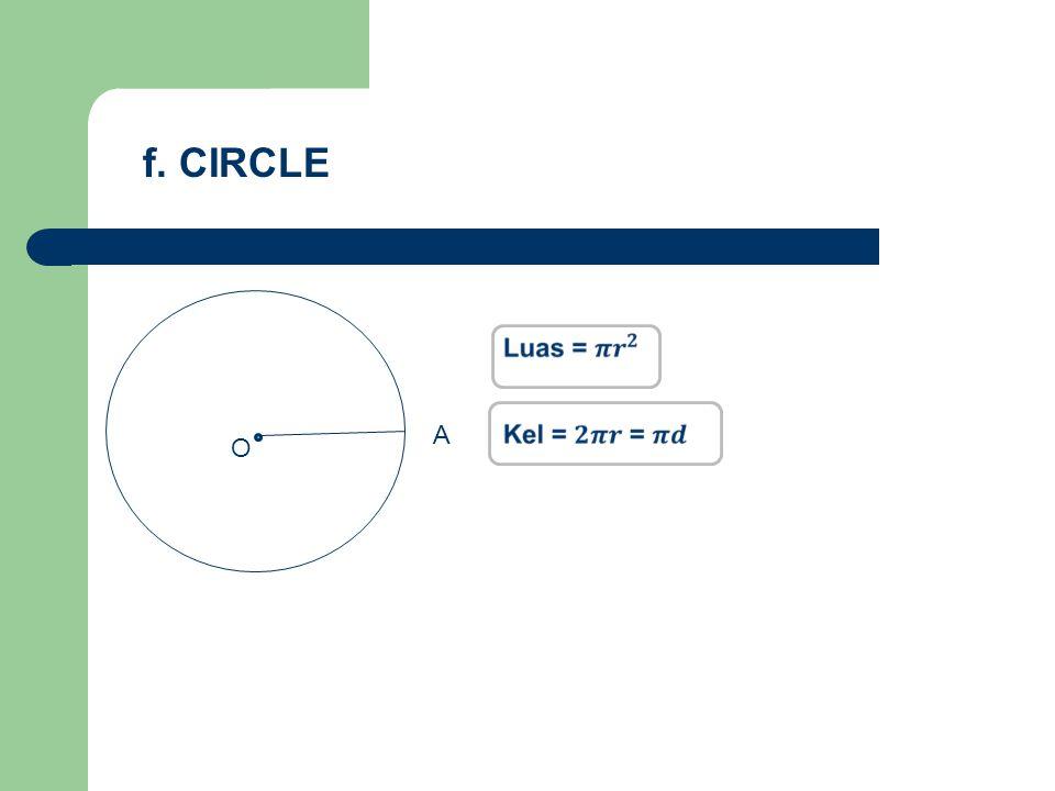 O A f. CIRCLE
