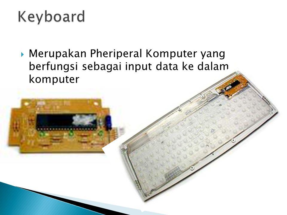  Merupakan Pheriperal Komputer yang berfungsi sebagai input data ke dalam komputer