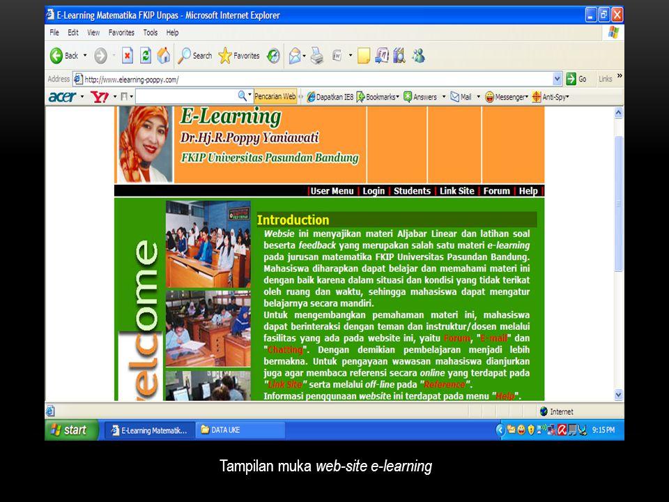 Tampilan muka web-site e-learning