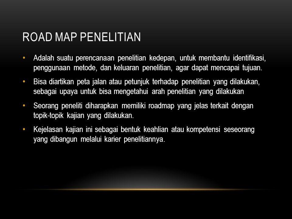 ROAD MAP PENELITIAN TENTANG E-LEARNING