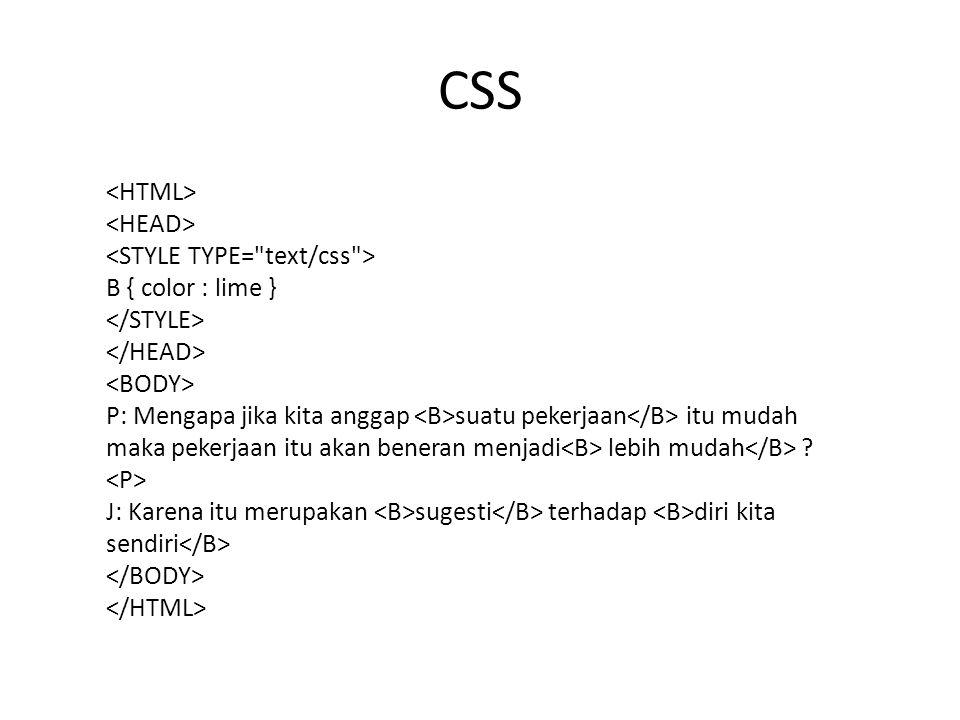 CSS menawarkan berbagai macam cara untuk mengganti warna.
