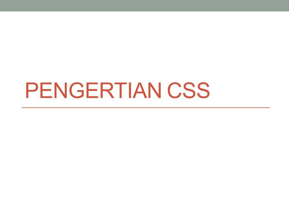 APA ITU CSS .