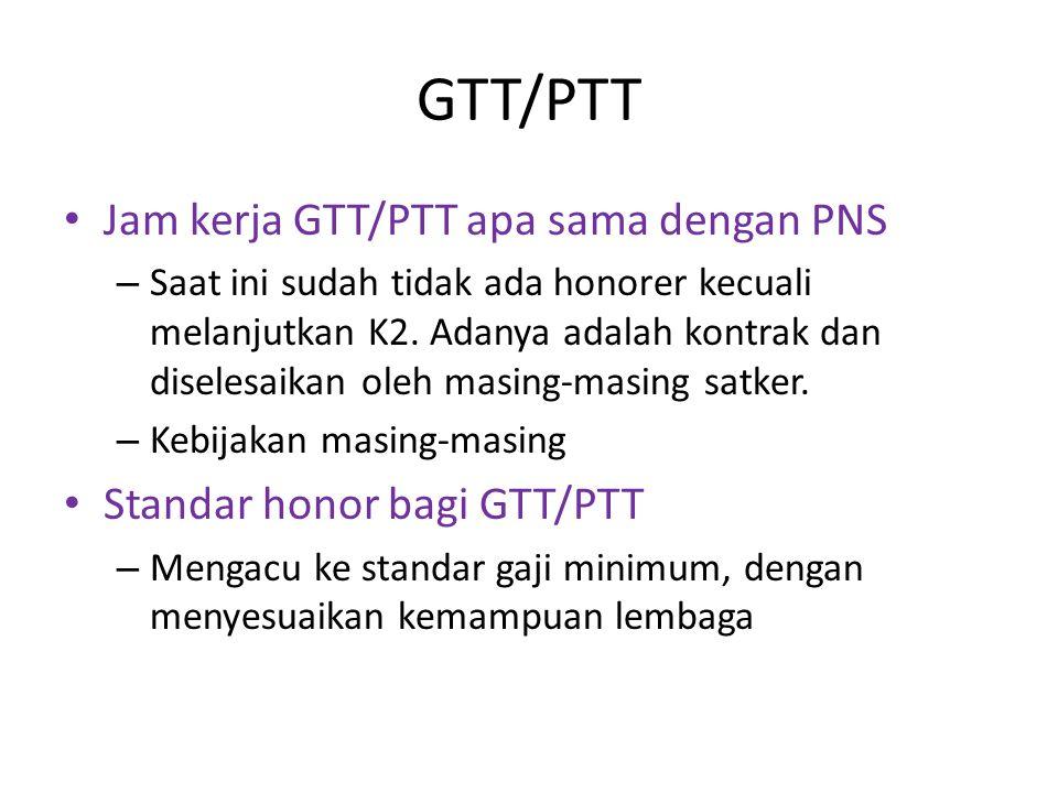 GTT/PTT Jam kerja GTT/PTT apa sama dengan PNS – Saat ini sudah tidak ada honorer kecuali melanjutkan K2.