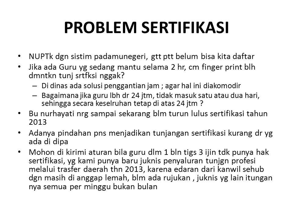 PROBLEM SERTIFIKASI NUPTk dgn sistim padamunegeri, gtt ptt belum bisa kita daftar Jika ada Guru yg sedang mantu selama 2 hr, cm finger print blh dmntkn tunj srtfksi nggak.