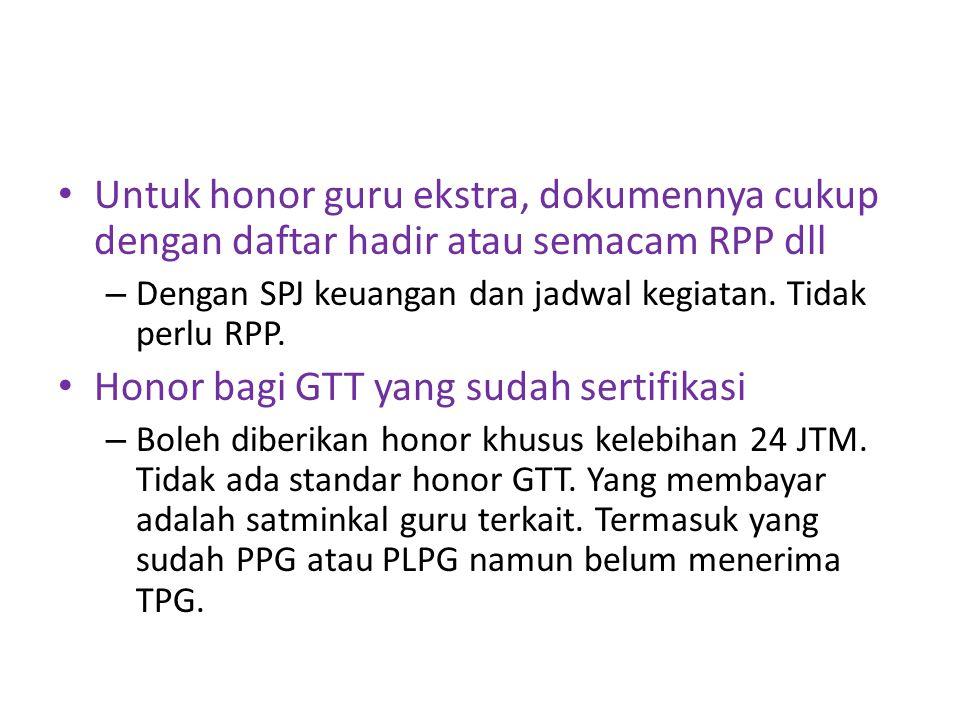 Aturan pensiun GTT/PTT : – Model kontrak menjadi solusi untuk mengakhiri masa pensiun GTT/PTT agar dapat dievaluasi PTT yg dah masuk K2 diusulkan dapat HR tetap dlm APBNP – Tetap diajukan Di DIPA kami ada honor pramusaji kenapa gak boleh dicairkan.