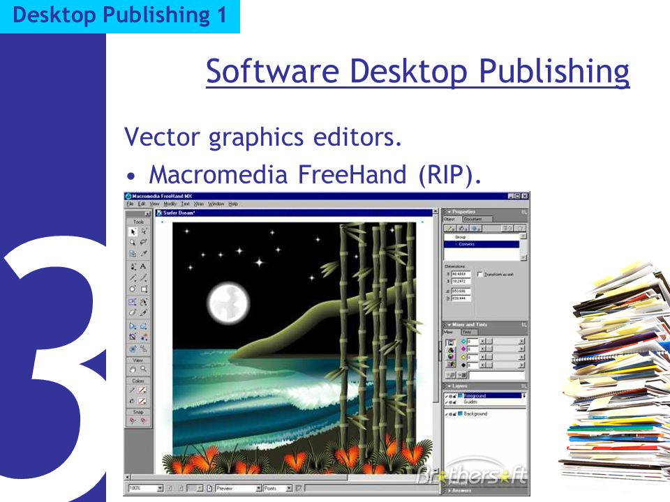 Software Desktop Publishing Vector graphics editors. Macromedia FreeHand (RIP). 3 Desktop Publishing 1