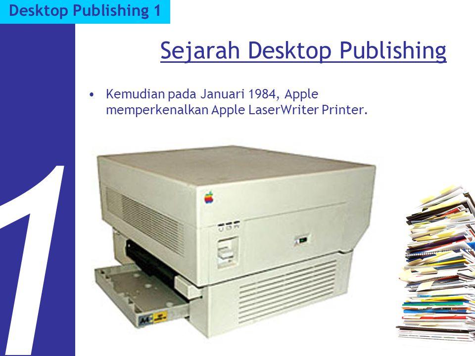 Software Desktop Publishing Page layout. Adobe PageMaker. 3 Desktop Publishing 1