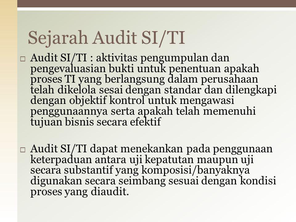 Audit yang berfungsi untuk memeriksa apakah sistem yang dikembangkan mencakup kebutuhan obyektif organisasi.