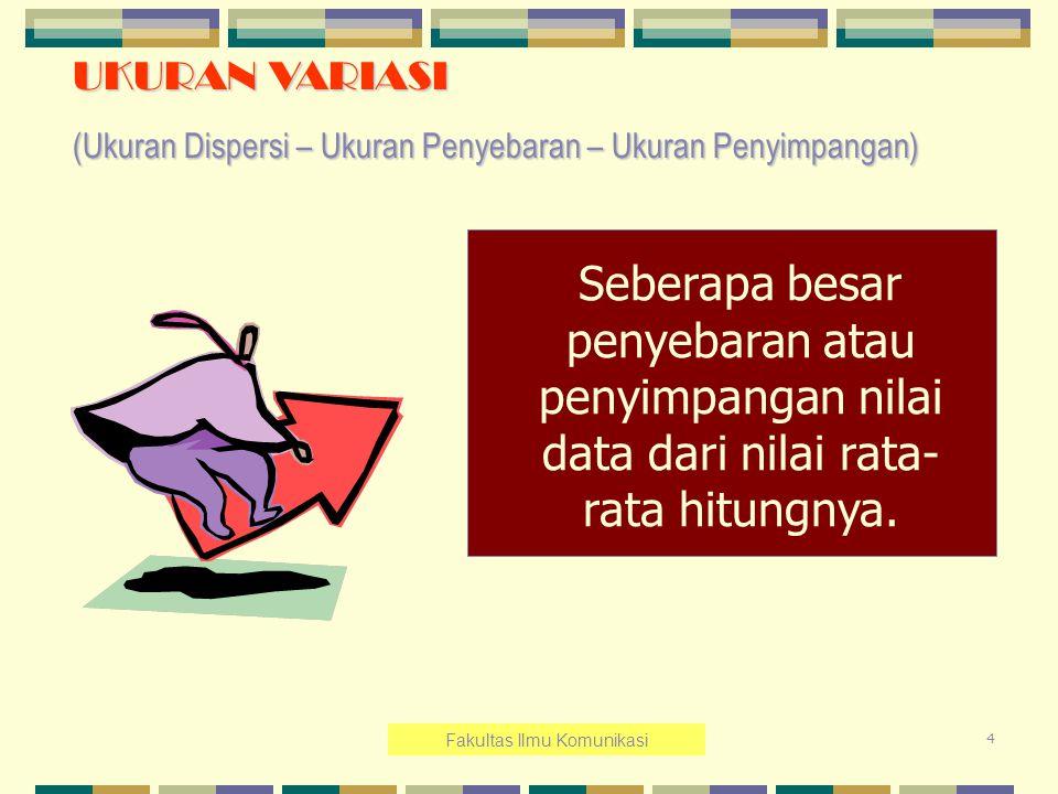 15 Contoh 13.2 : Data penjualan 8 Cabang Batik Keris di Yogyakarta pada bulan Desember 2007.