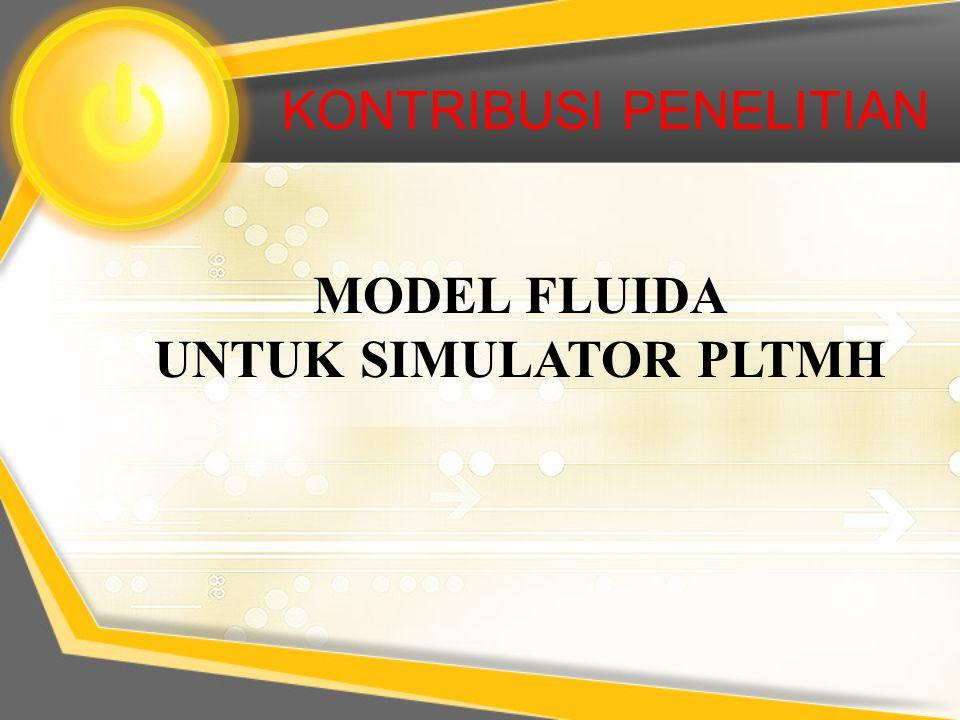 MODEL FLUIDA PADA BAK PENENANG BAK PENENANG DEBIT AIR h Q in