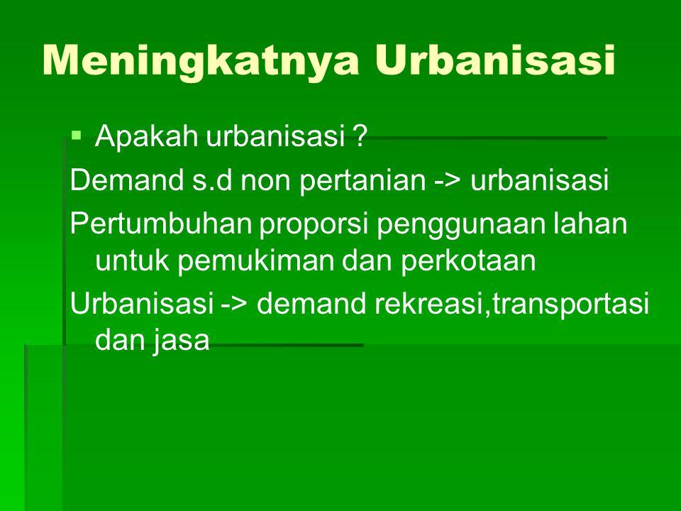 Meningkatnya Urbanisasi   Apakah urbanisasi .