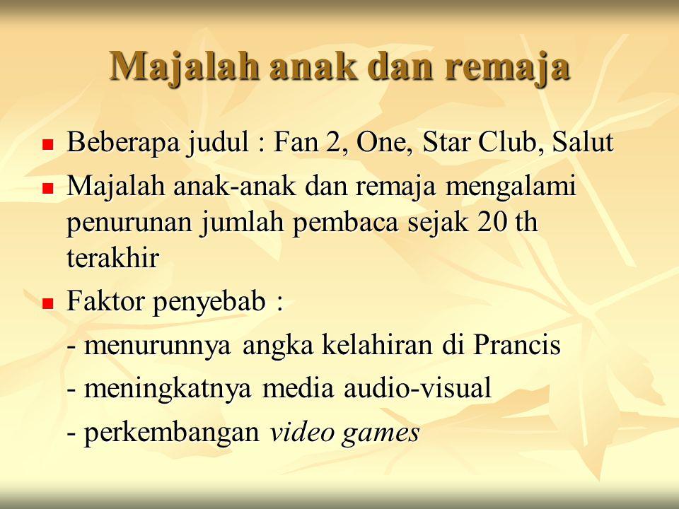 Majalah anak dan remaja Beberapa judul : Fan 2, One, Star Club, Salut Beberapa judul : Fan 2, One, Star Club, Salut Majalah anak-anak dan remaja menga