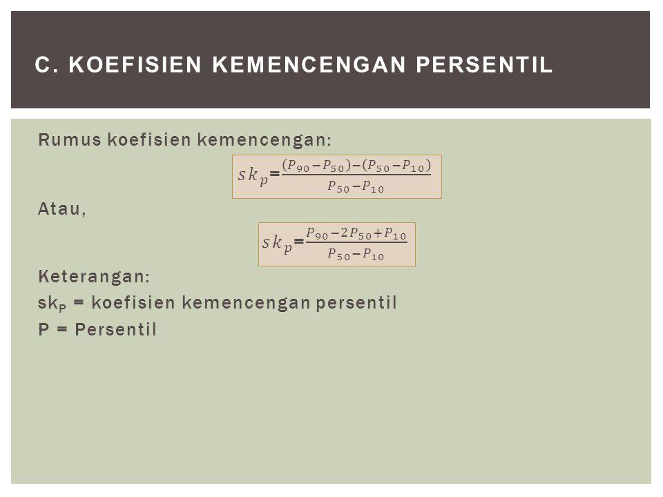 C. KOEFISIEN KEMENCENGAN PERSENTIL