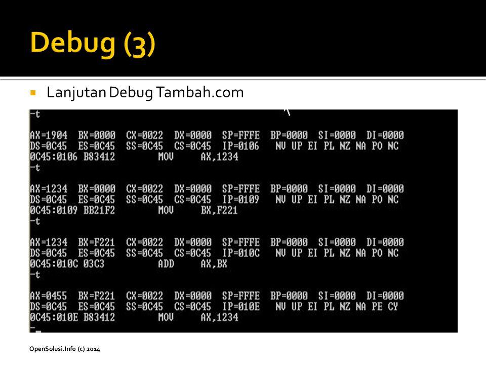  Lanjutan Debug Tambah.com