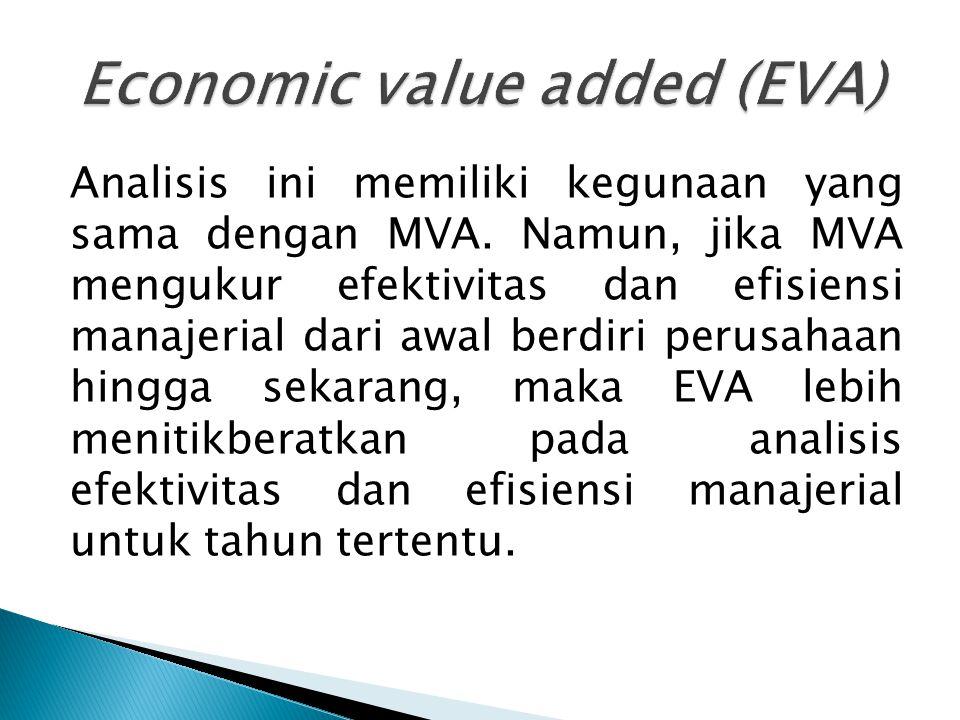 Analisis ini memiliki kegunaan yang sama dengan MVA.