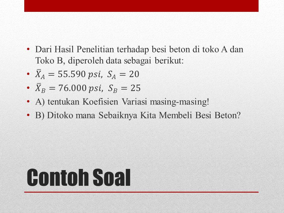 Contoh Soal X 2-4256 3-381 600 8214 115625 Jumlah0978