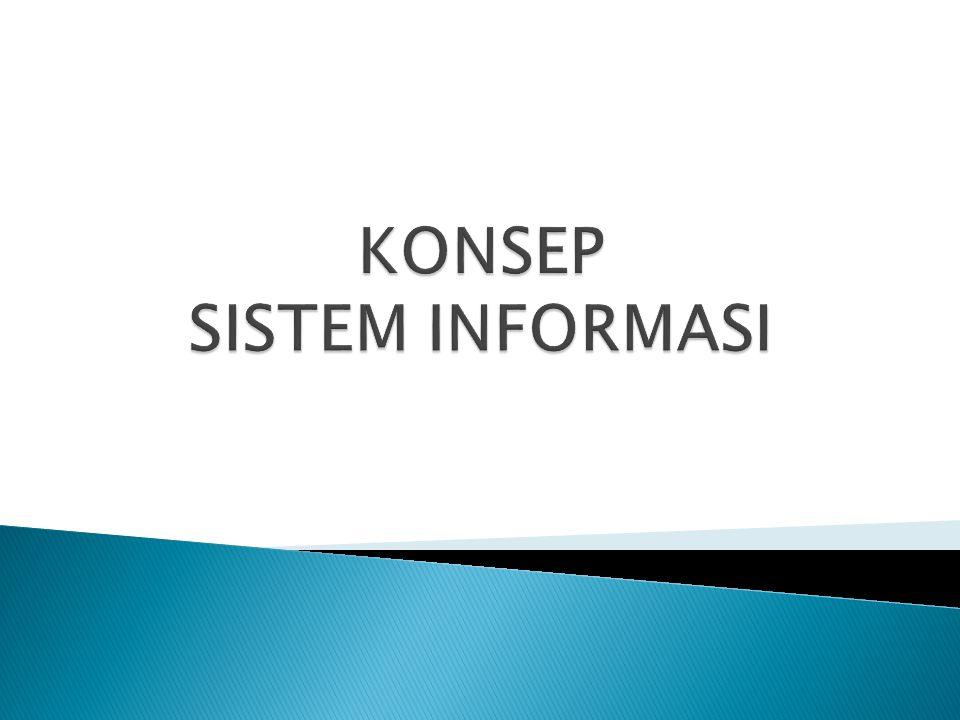  Sistem : kumpulan dari elemen-elemen yang berinteraksi untuk mencapai suatu tujuan tertentu.