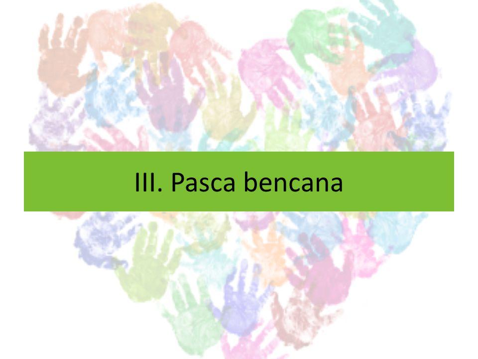 PASCA-BENCANA Memberikan bantuan yang bersifat recovery dan follow-up terhadap daerah bencana.