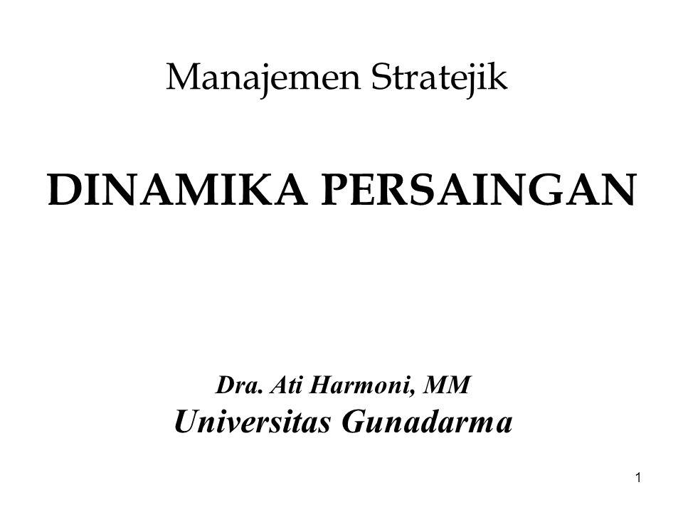 1 Manajemen Stratejik DINAMIKA PERSAINGAN Dra. Ati Harmoni, MM Universitas Gunadarma